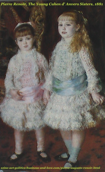 Pierre Auguste Renoir, The Young Cahen d'Anvers Sisters, 1881
