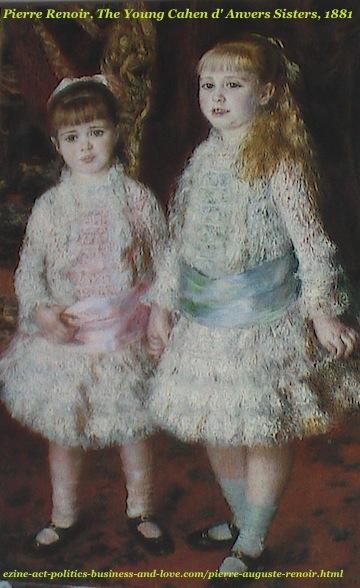 Pierre Auguste Renoir, The Young Cahen d'Anvers Sisters, 1881
