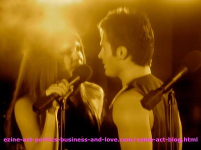 Loren Tate (Brittany Underwood) Sharing Love Song with Eddie Duran (Cody Longo) in Hollywood Heights.