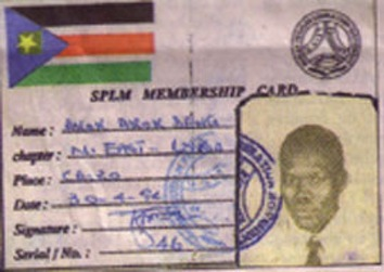 Refugees: Deng Akok, SPLM Fighter.
