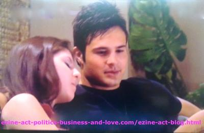 Eddie Duran (Cody Longo) and Loren Tate (Brittany Underwood) in Love in Hollywood Heights.