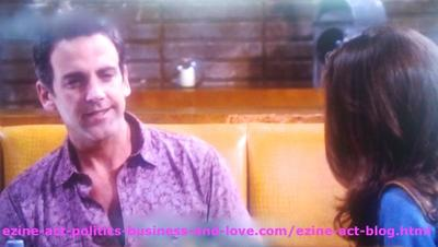 Max Duran (Carlos Ponce) and Loren Tate (Brittany Underwood) Talking about his Son Eddie Duran (Cody Longo).