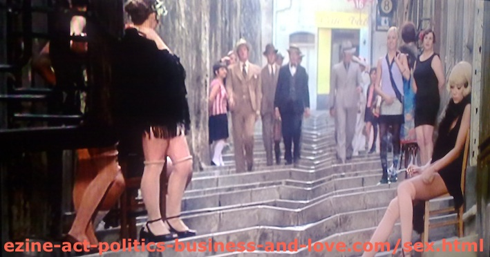 Sex Girls in Marseilles, France in Borsalino Movie, Starring Jean-Paul Belmondo