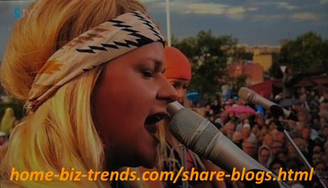 home-biz-trends.com - Share Blogs: Swedish Blond Singing in One of the Swedish Song Festivals!