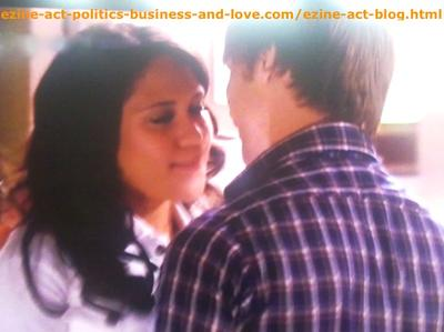 Melissa Sanders (Ashley Holliday) and Her Boyfriend Adam (Nick Krause) in Hollywood Heights.