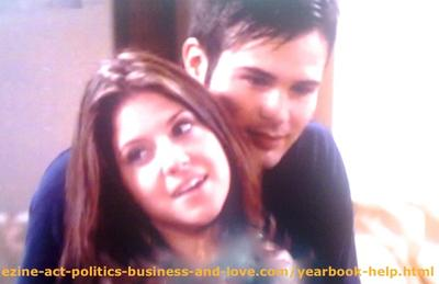 Loren Tate (Brittany Underwood) and Eddie Duran (Cody Longo) Enjoying Love in Hollywood Heights.