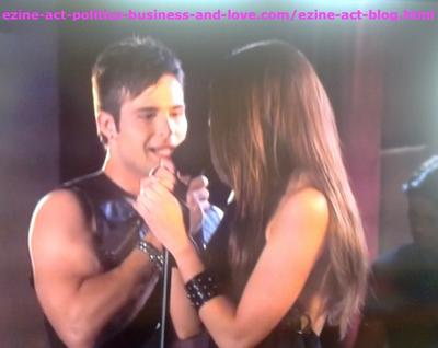 Eddie Duran (Cody Longo) and his Love Loren Tate (Brittany Underwood) Singing Together One of his Songs in Hollywood Heights.