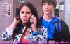 Adam (Nick Krause) and his love Melissa Sanders (Ashley Holliday) while she was on phone with Loren Tate (Brittany Underwood) in Hollywood Heights.