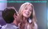 Chloe Carter and Dylan Boyd playing love in Hollywood Heights.