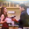 Eddie Duran (Cody Longo) and His Love Loren Tate (Brittany Underwood) in Her Kitchen at Home in Hollywood Heights.