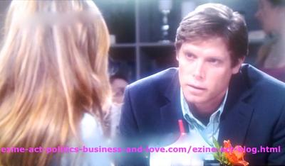 Gus Sanders (Brian Letscher) Asking Adriana Masters (Haley King) to Tell him the Truth about the Crimes she involved in with his Son Phil Sanders (Robert Adamson) in Hollywood Heights.