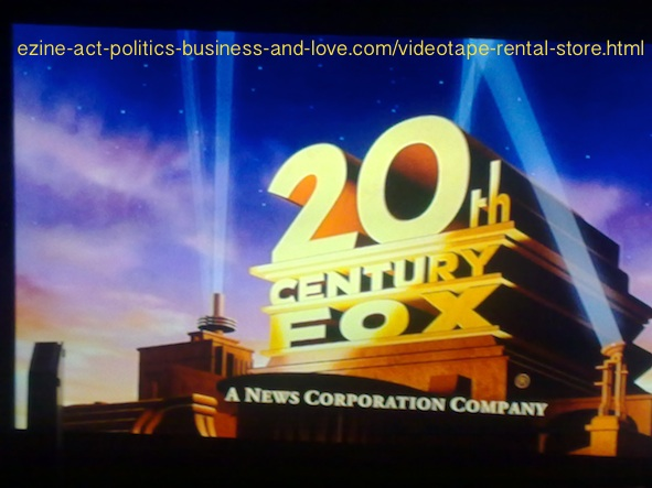 Videotape Rental Store: 20th Century Fox, News Corporation Company.