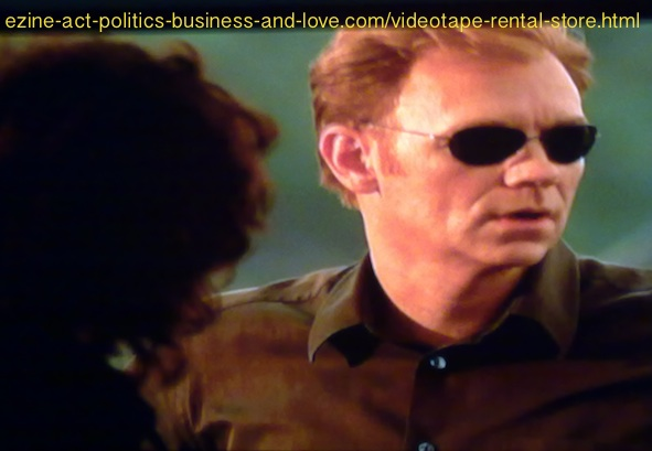 Videotape Rental Store: David Caruso, Horatio Caine, before starting CSI Miami.