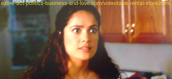 Videotape Rental Store: Fools Rush In Selma Hayek beautiful wide eyes.