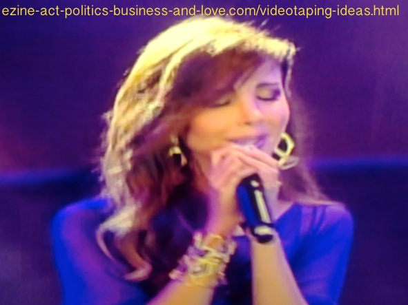 Videotaping Ideas: Beautiful Arabian singer, Nancy Ajram singing.
