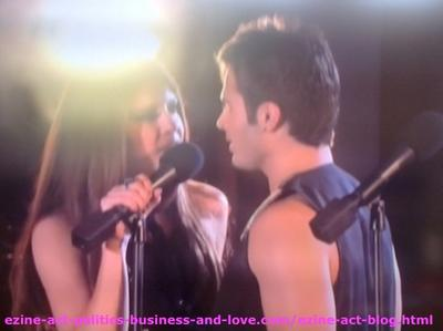 Eddie Duran (Cody Longo) Singing with his Love Loren Tate (Brittany Underwood) in Hollywood Heights.