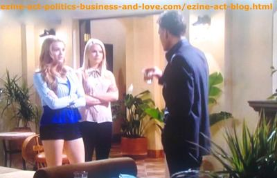 Hollywood Heights: Don Masters (Grayson McCouch) Advising His Daughter Adriana Masters (Haley King) to Ge a Job, His Daughter Feels that She Lost His Love Because of Her Selfishness.