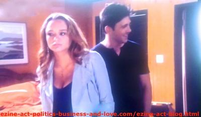 Phil Sanders (Robert Adamson) and Adriana Masters (Haley King) Confused and Feeling in Danger in Hollywood Heights.