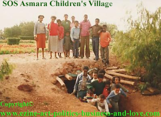 Child Care: Journalist Khalid Osman, while taking care of child care with SOS to feature its efforts during wars.