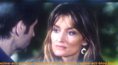 Kern (Natascha McElhone) Trying to Convince Her Husband Hank Moody (David Duchovny) that She Loves Him, But the Way He Lives, Running After Young Girls is a Misery on Californication.