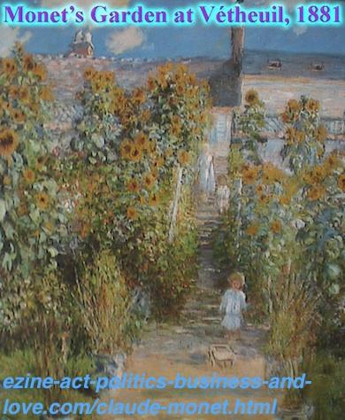 Claude Monet's Garden at Vetheuil, 1881.
