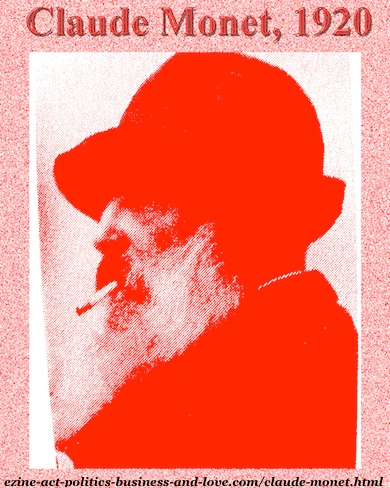 Claude Monet, Smoky Silhouette Portrait.