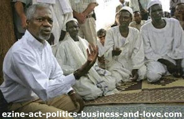 Ezine Act 51: Kofi Atta Annan, the 7th UN Secretary Genreal in Darfur, Sudan.