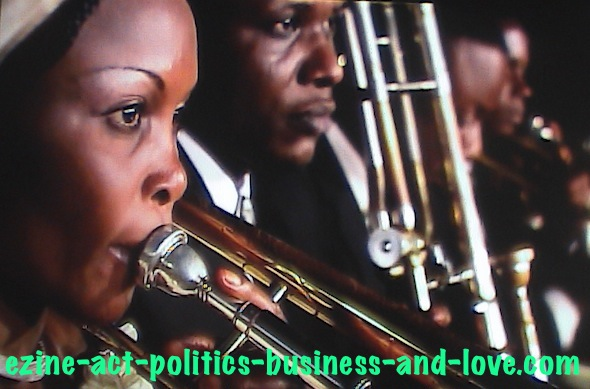 Ezine Acts African Art: African Musical Group Playing African Choral Music.