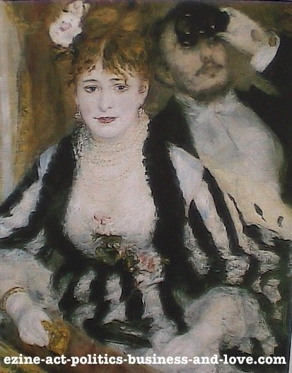 Ezine Acts Fine Arts: La Loge, 1874 by the French Painter Pierre Auguste Renoir.