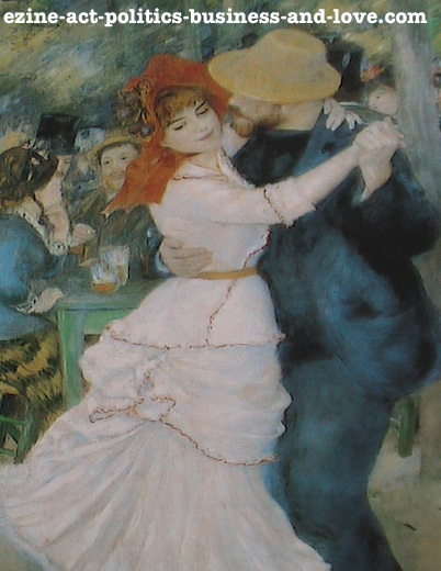 Ezine Acts Fine Arts: Dance at Bougival, Suzanne Valadon and Paul L'hote, 1882-1883, Pierre Auguste Renoir.