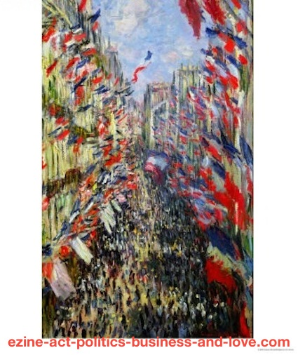 French Paintings: Claude Monet, The Rue Montorgueil Paris Celebration of June 30, 1878.