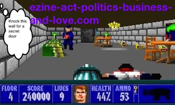 Ezine Acts Games: Traditional Wolfenstein 3D, Wolf 3D, Spear of Destiny.