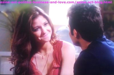 Loren Tate (Brittany Underwood) with her Love Eddie Duran (Cody Longo) in Hollywood Heights.