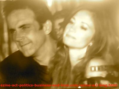 Nora Tate (Jama Williamson) and Max Duran (Carlos Ponce) in Love in Hollywood Heights.