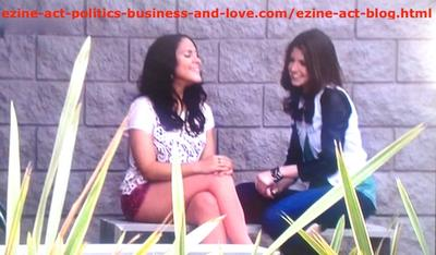 Loren Tate (Brittany Underwood) Talking with Melissa Sanders (Ashley Holliday) in the Hospital, on Hollywood Heights.