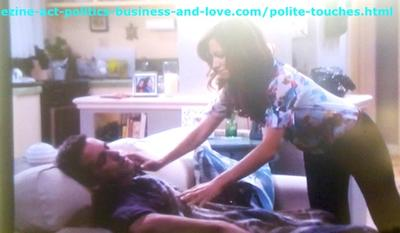 Polite Touches Between Nora Tate, Loren's mom and Max Duran, Eddie's dad in Hollywood Heights.