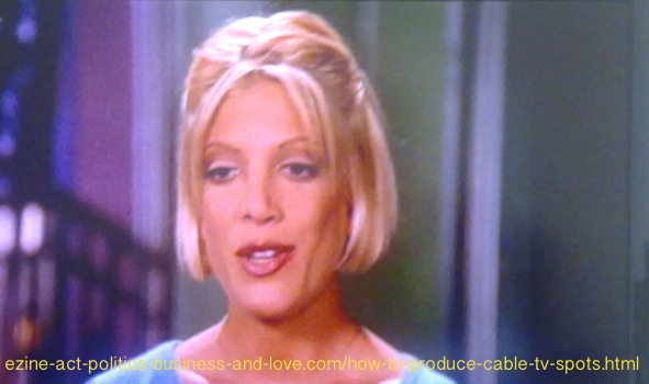 How to Produce Cable TV Spots: Tori Spelling, Donna Martin, Beverly Hills 90210.