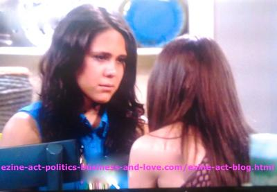 Melissa Sanders (Ashley Holliday) While Seeking the Support of her Best Friend Loren Tate (Brittany Underwood) in Hollywood Heights. The Two Girls are Very Nice Kids at 18.