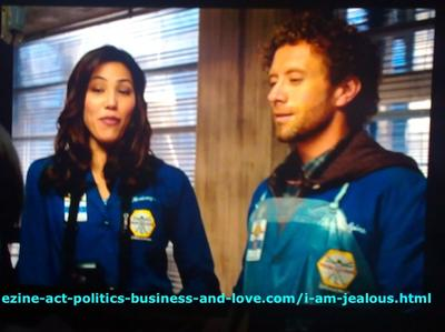 Love United Angela Montenegro, as Michaela Conlin and T. J. Thyne, as Dr. Jack Hodgins in Bones TV Series.