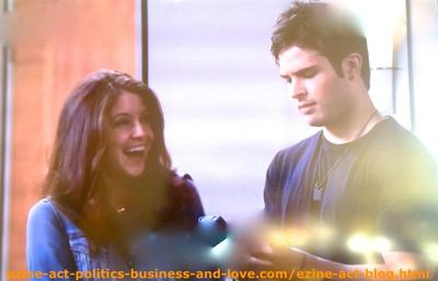 Eddie Duran (Cody Longo) While Tweeting to Thousands of Followers in Twitter about Loren's News Song and Loren Tate (Brittany Underwood) Laughing.
