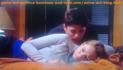 Hollywood Heights, Phil Sanders (Robert Adamson) While Trying to Calm Down his Girlfriend Adriana Masters (Haley King).