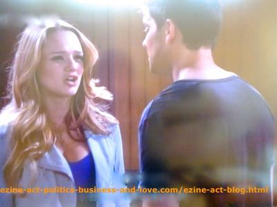 Adriana Masters (Haley King) and Her Boyfriend Phil Sanders (Robert Adamson) in Hollywood Heights.