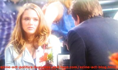 Gus Sanders (Brian Letscher) While He Explained to His Son's Girlfriend, Adriana Masters (Haley King) What Does Family Love Mean and Tried To Convince Her to Help Him Get Out of the Troubles He Made in Hollywood Heights.