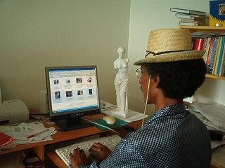 Online Business Consulting Services: Khalid Osman at his Computer.