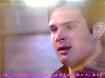 Eddie Duran (Cody Longo) feeling too much hurt by the lies of his girlfriend, Chloe Carter - Cynthia Kowalski - (Melissa Ordway) in Hollywood Heights.