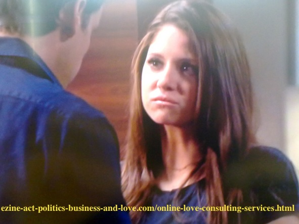 Max Duran (Carlos Ponce) sharing sympathy with Loren Tate (Brittany Underwood) after the tragedy that his rock star son Eddie Duran (Cody Longo) was killed in a car accident.