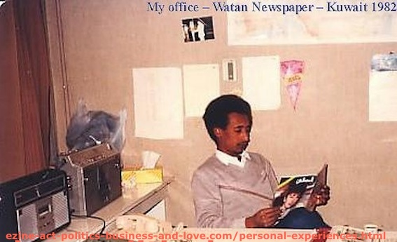 Ezine Act Articles Index: Journalist Khalid Osman at his Office in Alwatan Newspaper.