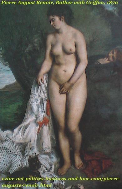 Pierre Auguste Renoir, Bather with Griffon, 1870