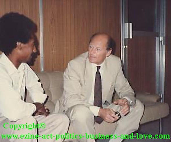 Political Consulting Services: Journalist Khalid Osman Interviewing the UNHCR Representative.
