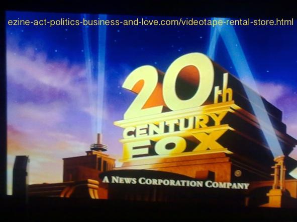 Videotape Rental Store: 20th Century Fox, News Corporation Company.